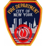 Distintivo Fire Dept.New York City 11,5 x 10 cm