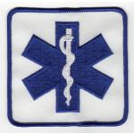Badge Star of Life, 9,5 x 9,5 cm
