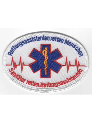 Badge RA rettdans Menschen, RS rettdans RAs