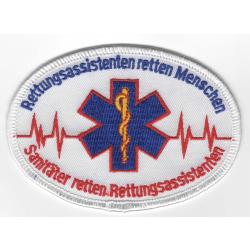 Abzeichen: RA retten Menschen, RS retten RAs