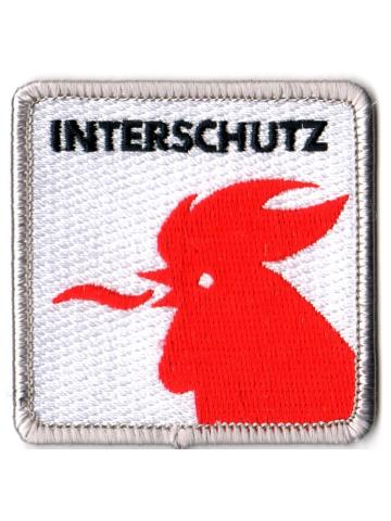 Insignia Interschutz (zu 100 % bestickt, 6 x 6 cm)