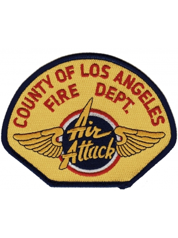 Company Patch: County of Los Angeles (Air attack), 12 x 9,2 cm zu 100 % bestickt