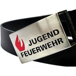 Koppelgürtel JUGENDFEUERWEHR con Tiefenprägung...