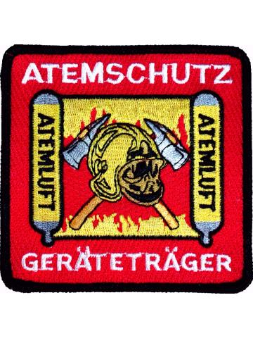 Distintivo Atemschutzgeräteträger, 9 x 9 cm