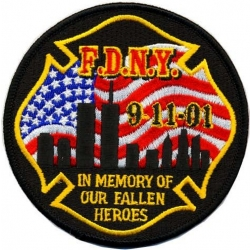 "Memorial Patch 9-11-01 ""In Memory of our fallen..."