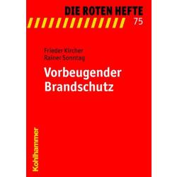 """Libro: rojo Heft 75 """"Vorbeugender Brandschutz"""""""