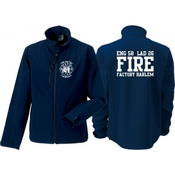 Softshelljacke navy, New York Fire Dept. Fire Factory Harlem