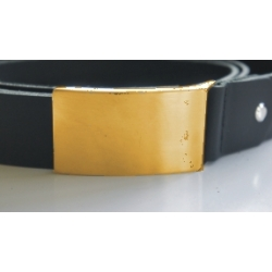Koppelgürtel ohne Beschriftung - gold satiniert