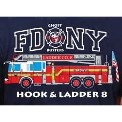 T-Shirt navy, New York City Fire Dept. (Ladder Truck 8) -...