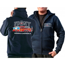 Hooded jacket navy, FDNY Ladder Truck 8 - Ghost Busters,...