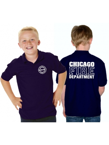 Kinder-Polo navy, CHICAGO FIRE DEPT., in weiss