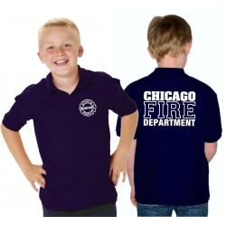Kinder-Polo navy, CHICAGO FIRE DEPT., in white