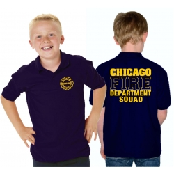 Kinder-Polo navy, CHICAGO FIRE DEPT. SQUAD, in yellow