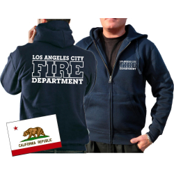 Chaqueta con capucha azul marino, Los Angeles City Fire...