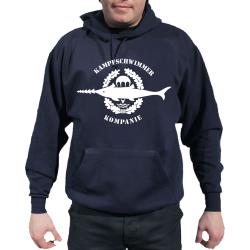 Hoodie blu navy, Kampfschwimmer Kompanie, biancos Emblem