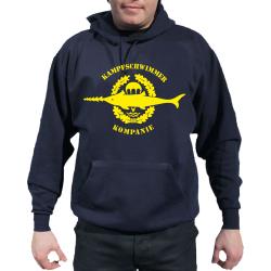 Hoodie blu navy, Kampfschwimmer Kompanie, giallos Emblem
