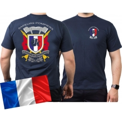 T-Shirt navy, Sapeurs Pompiers France - Courage et...