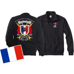 Sweatjacke (navy/bleu marine) Sapeurs Pompiers - Courage...