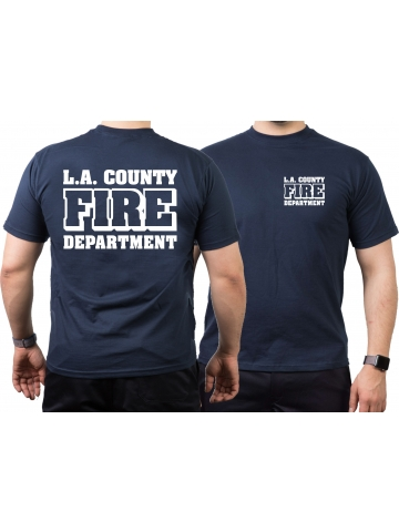 T Shirt Navy L A County Fire Department In Weiss 29 90