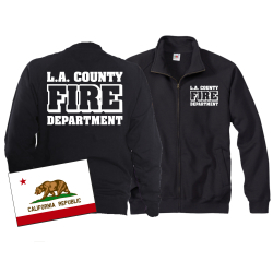 Sweatjacke navy, Los Angeles County Fire Department