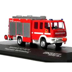 Model car 1:87 Iveco Magirus HLF 20/16, FF Markkleeberg (SN)