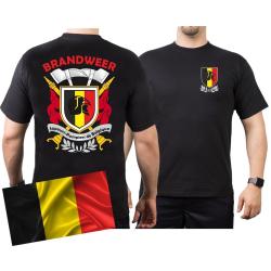 T-Shirt (black/noir) BRANDWEER - Sapeurs Pompiers de...