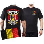 T-Shirt (nero/noir) BRANDWEER - Sapeurs Pompiers de Belgique, multicolore