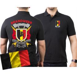 Polo (nero/noir) BRANDWEER - Sapeurs Pompiers de...