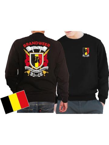 Sweat(nero/noir) BRANDWEER/POMPIERS - Sapeurs Pompiers de Belgique, multicolore