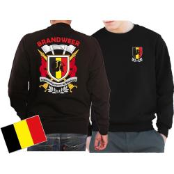 Sweat(black/noir) BRANDWEER/POMPIERS - Sapeurs Pompiers...