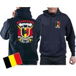 Sweat á capuche (navy/bleu marine) BRANDWEER/POMPIERS - Sapeurs Pompiers de Belgique, multicolore