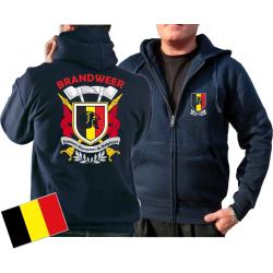 Hooded jacket (navy/bleu marine) Brandweer - Sapeurs...