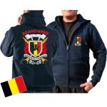 Giacca con cappuccio (blu navy/bleu marine) Brandweer - Sapeurs Pompiers de Belgique, multicolore