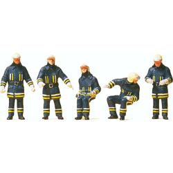 Equipment 1:87 Figuren Feuerwehrmänner in...