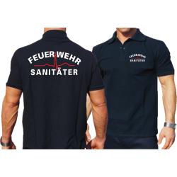 Polo navy, Feuerwehr Sanitäter white/red