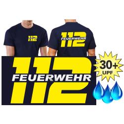Funktions-T-Shirt navy mit 30+ UV-Schutz, 112 mit...