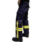 Pantalón 100% algodón FR (fireresistant), con HuPF4-Bestreifung