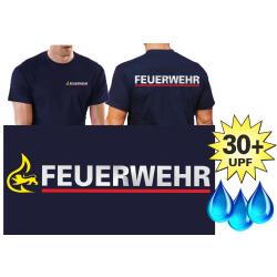 Funzionale-T-Shirt blu navy con 30+ UV-protezione,...