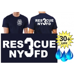 Functional-T-Shirt navy with 30+ UV-Protection, NYFD...