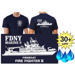 Functional-T-Shirt navy with 30+ UV-Protection, New...