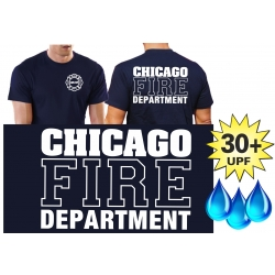 Functional-T-Shirt navy with 30+ UV-Protection, Chicago...