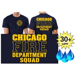 Funktions-T-Shirt navy mit 30+ UV-Schutz, Chicago Fire...