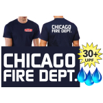 Funcional-T-Shirt azul marino con 30+ UV-proteccion, Chicago Fire Dept., Chicago Fire Dept., fuente