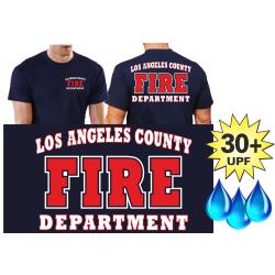 Funcional-T-Shirt azul marino con 30+ UV-proteccion, Los...