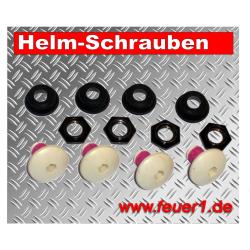 Schuberth-Feuerwehrhelm-Befestigungsschrauben 4St., DIN-Helm