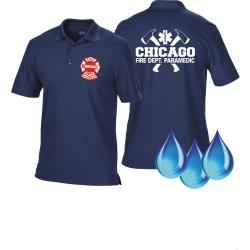 Funcional-Polo azul marino, Chicago Fire Department con...