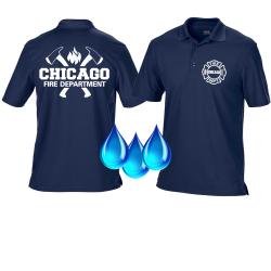 Funcional-Polo azul marino, Chicago Fire Dept. con ejes y...