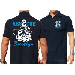 Polo navy, RESCUE 2 Brooklyn, bulldog farbig