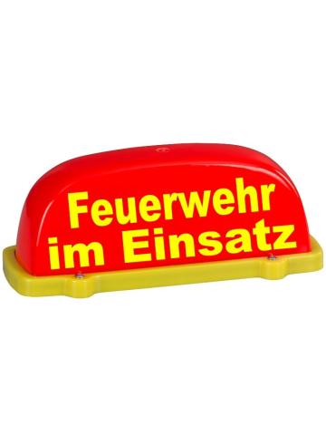 Dachaufsetzer leuchtrot/gelb FW im Einsatz, unbeleuchtet, TüV-Gutachten bis 130 km/h