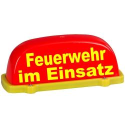 Dachaufsetzer leuchtrouge/jaune FW im Einsatz,...